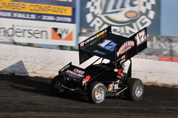 Austin McCarl recently earned a spot of the podium at Huset's Speedway, in Brandon, South Dakota.