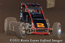 Racing with the JR Racing Team, Aystin Williams is competing in his fiorst season of the 410 class USCA/CRA Division.
