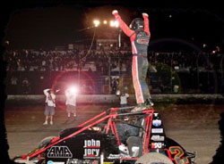 Austin Williams recently experienced his first USAC/CRA win.