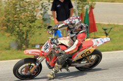 Andreas Rothbauer currently sits in fourth place in International Austrian Supermoto State Championship heading into the second half of the season.