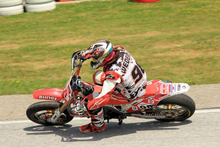 K&N's Team Honda Austria  rider Florian Wedenig sits comfortably in the third spot heading into the second half of the Supermoto season.
