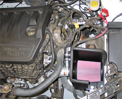 K&N performance air intake system 69-2542TS installed on a 2008 Dodge Avenger