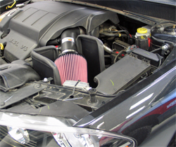 K&N performance air intake system 69-2543TTK installed on a Dodge Avenger