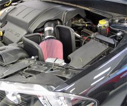 K&N performance air intake system 69-2543TTK installed on a Dodge Avenger