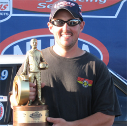 Stock Eliminator title goes to Wellington, Ohio's Rick Baehr who won his first NHRA National event at his home track in Norwalk, Ohio