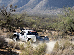 Ford Ranger's deafening pitch of a 500 horsepower V6 engine rocks the Baja 500, photo by Nick Socha