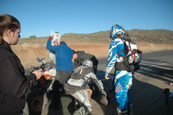 Nick Nelson getting fuel at the SCORE Baja 1000 race
