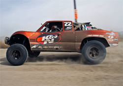 The K&N Sponsored No. 22 Trophy Truck at the 41st Annual SCORE Baja 1000 in Ensenada, Mexico