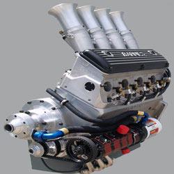 Engine for a Midget Sprint Car with a Barnes Oil Pump