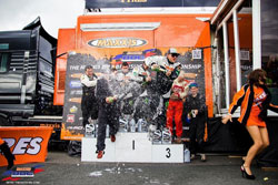 The podium was once again filled with the customary champagne bath and frivolity.