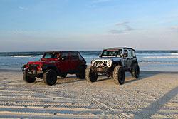 Jeep Beach 2016 Jeeps drive on sand at Daytona Beach