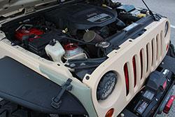 Jeep Beach 2016 JK 3.6L PentaStar engine with K&N universal air filter