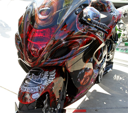 The 2009 Suzuki Hayabusa auction proceeds will go to the Make-A-Wish Foundation and TPOA Children's Charitable Foundation