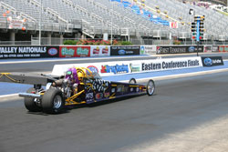 Amber Bell qualified for the Eastern Conference Finals at Bristol Dragway