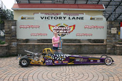 Amber Bell finished runner-up in her age group at the Junior Dragster Challenge at Maple Grove Raceway