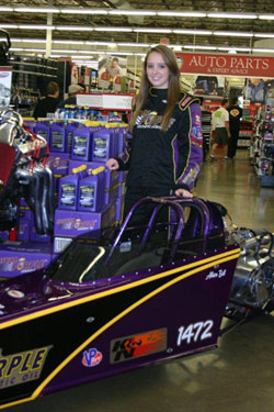 The Bell Family Race Team made two appearances at Pep Boys Speed Shop grand openings for K&N