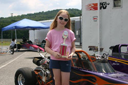 In 2010 Amber won her first of many trophies at Maple Grove Raceway.