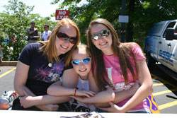 With a future so bright they have to wear shades and rocking their K&N t-shirts is the Bell Family Race Team - Heather, Amber and Allison (left to right).