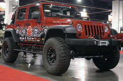 Parker plans on taking his Jeep Rubicon to various school functions in order to help raise storm awareness.