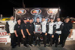 Ben Kennedy Team in Victory Lane after NAPA 150 at Five Flags Speedway in Pensacola, Florida