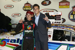 Iowa Speedway President, Jimmy Small, with Ben Rhodes