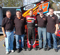 (From Left) Bertrand Motorsport's NEMA success is based on communication between teammates Gil Bertrand (Tim's dad), Glen Cabral (Randy's dad), Tim Bertrand and Todd Bertrand.