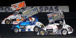 Monadnock Speedway is a small, tight track, but Todd was able to run up high, where no one else was running.