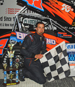 The Twin State Speedway win was a first Stewart Racing Engines in a pavement midget series event.