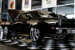 "The paint scheme is ""Back in Black"" by Barrett Jackson at Planet Color."