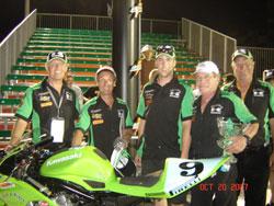 Bill Werner and his Kawasaki Team