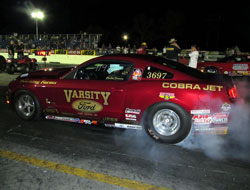 Brad Zaskowski recently missed the tri-fecta at Belle Rose, Louisiana while driving a 2010 Cobra Jet owned by Downing Farms.