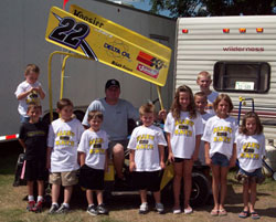 """The Billy Alley Jr. Fan Club, the """"Alley Katz."""" Members get t-shirts, club decals, autographed photos, regular pizza parties, and the opportunity to cheer on their local hero."""