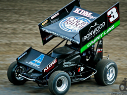 Billy Alley ran up front and finished in the top five in the ASCS National Tour event at I-80 Speedway