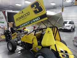 Billy Alley began racing his 360 winged sprint car with this new paint scheme last weekend