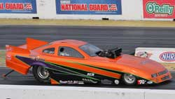 Billy Davis Racing Down the Drag Strip in His Top Alcohol Funny Car