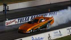 Billy Davis Burning Out at the Tulsa Raceway Park