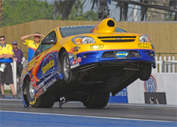 Biondo competes in IHRA and NHRA Sportsman Class events along with big money bracket races