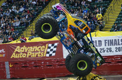 The Black Stallion Monster Truck stands tall for the crowd