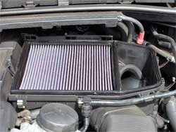 Air Filter Installed in BMW 535i, 335i and 335xi