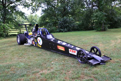 Bob Fuller's New Top Dragster waiting for the New K&N Scoop