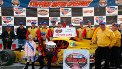 It was Santos huge victory at Stafford Motor Speedway that all but locked up the title for his team Mystic Missile Racing and owner Bob Garbarino.