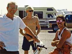 Russ Harris (left) and Bob Harris (far right) at Arizona in 1991