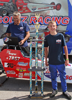 Zac Bogner won the Wicked 330 Race at The Strip at Las Vegas Motor Speedway in Nevada in his Don Soltz Junior Dragster