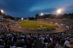 Packed Bleachers at Bowman Gray Stadium