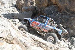 The number 232 AMSOIL Ranger negotiating 135 of the toughest miles ever