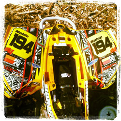 Brad Noble advanced into the B division this year, running in both the New England ATV MX Series and AMA's Division 3.