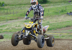 Brad Noble in AMA Division 3 NEATV series ATV racing