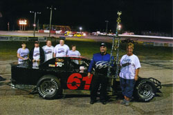 Brad Springer and Team Brad Springer Racing, recently won the points championship at the Angola Speedway, in Angola, Indiana.
