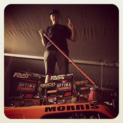 The broom is becoming a regular fixture for Bradley Morris as he sweeps the Pro Lite field once more.