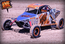 BME Motorsports and Bradley Morris put their new Pro Buggy K&ampN graphics on display by winning round 13